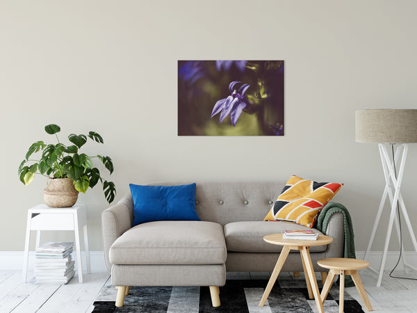 "Dramatic Blue Lobelia, Blue Cardinal Flower Nature Photo Fine Art Canvas Wall Art Prints 24"" x 36"" - PIPAFINEART"
