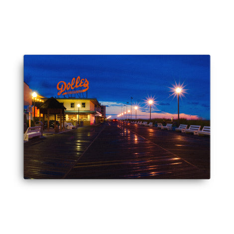Early Morning at Dolles Coastal Urban Landscape Traditional Canvas Wall Art Print