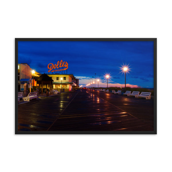 Early Morning at Dolles Urban Landscape Photo Framed Wall Art Print - Coastal / Beach / Shore / Seascape Landscape Scene