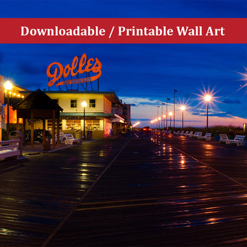 Early Morning at Dolles Coastal Landscape Photo DIY Wall Decor Instant Download Print - Printable
