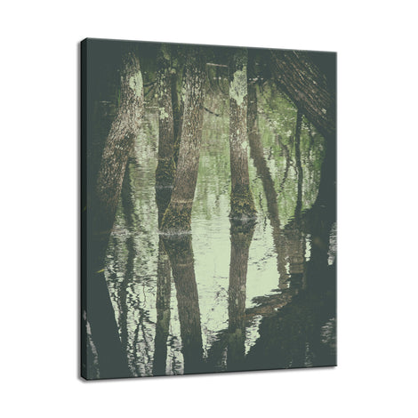 Early Spring Reflections on the Marsh Botanical / Nature Photo Fine Art Canvas Wall Art Prints