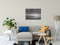 End of the Pier Black and White Fine Art Canvas & Unframed Wall Art Prints - PIPAFINEART