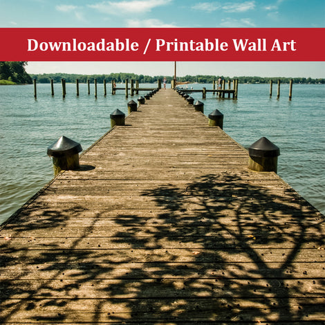 Endless Dock Landscape Photo DIY Wall Decor Instant Download Print - Printable