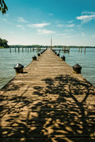 Endless Dock Coastal Landscape Fine Art Canvas Wall Art Prints  - PIPAFINEART