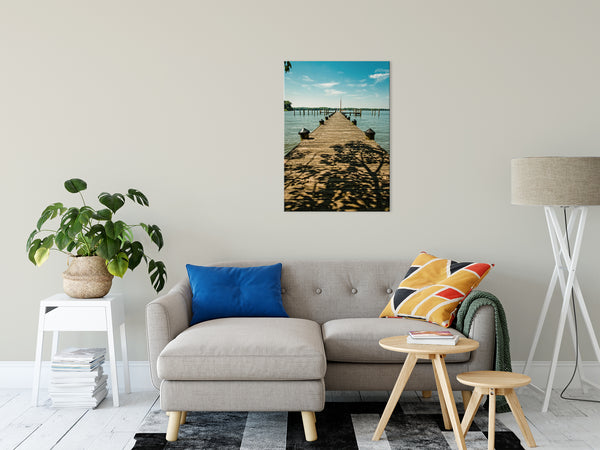 Coastal Landscape Photograph Endless Dock Beach Art - Fine Art Canvas - Home Decor Wall Art Prints Unframed