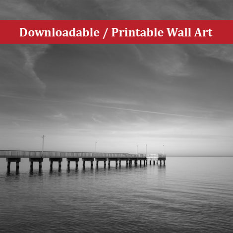 End of the Pier Landscape Photo DIY Wall Decor Instant Download Print - Printable