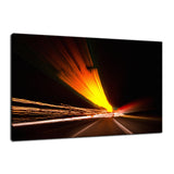 Expressway Abstract Night Photo Fine Art Canvas & Unframed Wall Art Prints  - PIPAFINEART
