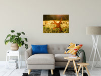 "Fall Leaf in Morning Sun Botanical / Nature Photo Fine Art Canvas Wall Art Prints 24"" x 36"" / Fine Art Canvas - PIPAFINEART"