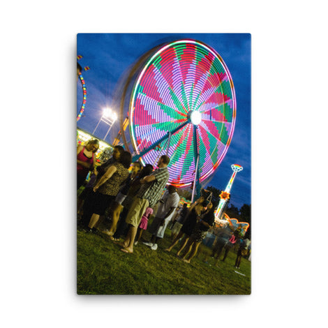 Ferris Wheel 1 Urban Landscape Traditional Canvas Wall Art Print