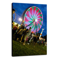 Ferris Wheel 1 Night Photo Fine Art Canvas Wall Art Prints  - PIPAFINEART