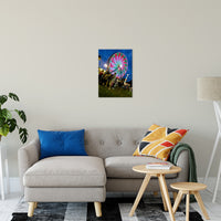 "Ferris Wheel 1 Night Photo Fine Art Canvas Wall Art Prints 16"" x 20"" / Fine Art Canvas - PIPAFINEART"