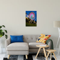 "Ferris Wheel 1 Night Photo Fine Art Canvas Wall Art Prints 20"" x 24"" / Fine Art Canvas - PIPAFINEART"
