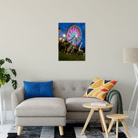 "Ferris Wheel 1 Night Photo Fine Art Canvas Wall Art Prints 20"" x 30"" / Fine Art Canvas - PIPAFINEART"