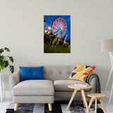 "Ferris Wheel 1 Night Photo Fine Art Canvas Wall Art Prints 24"" x 36"" / Fine Art Canvas - PIPAFINEART"