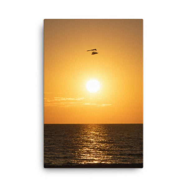 Flying High at Sunset Coastal Landscape Photo Canvas Wall Art Print  - PIPAFINEART