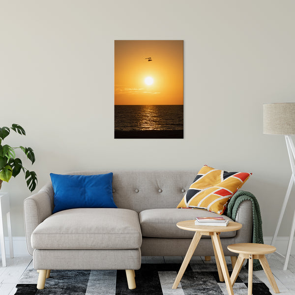 "Flying High at Sunset Coastal Landscape Fine Art Canvas Prints 24"" x 36"" - PIPAFINEART"