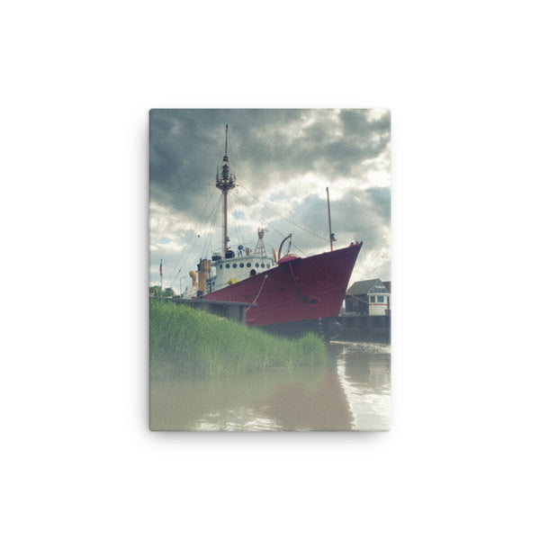 Foggy River Coastal Landscape Canvas Wall Art Prints  - PIPAFINEART