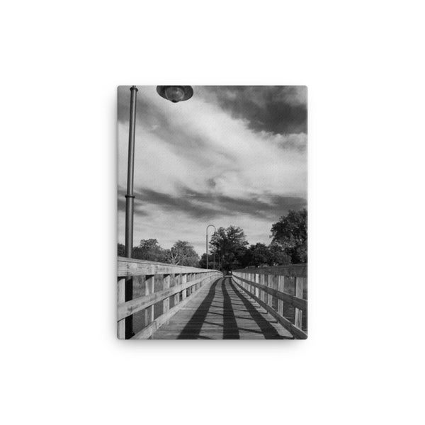 Follow the Lines Black and White Coastal Landscape Canvas Wall Art Prints  - PIPAFINEART