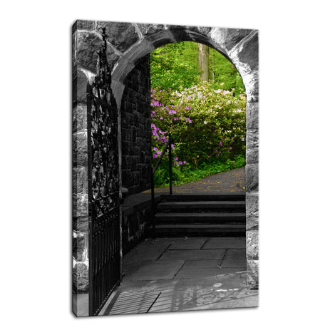 Garden Entryway Nature / Floral Photo Fine Art Canvas Wall Art Prints