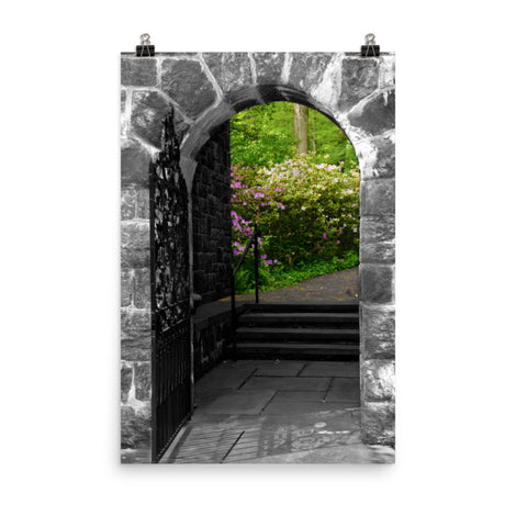 Garden Entryway Black and White Botanical Nature Photo Loose Unframed Wall Art Prints