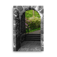 Garden Entryway Black and White Floral Nature Canvas Wall Art Prints  - PIPAFINEART