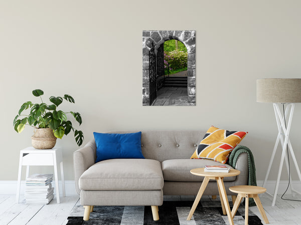 Floral Nature Photograph Garden Entryway - Fine Art Canvas - Home Decor Unframed Wall Art Prints
