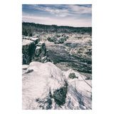 Great Falls Vintage Rural Landscape Photo Fine Art Canvas Wall Art Prints  - PIPAFINEART
