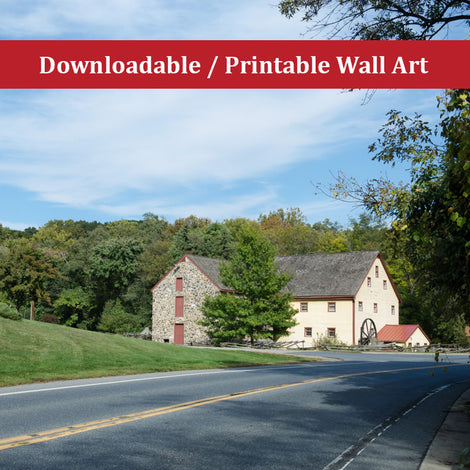 Greenbank Mill Landscape Photo DIY Wall Decor Instant Download Print - Printable