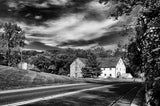 Greenbank Mill Summer in Black and White Fine Art Canvas & Unframed Wall Art Prints - PIPAFINEART