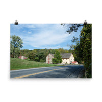Greenbank Mill Summer Color Landscape Photo Loose Wall Art Prints Rural / Farmhouse / Country Style Landscape Scene (Unframed)