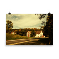 Greenbank Mill Summer Colorized Landscape Photo Loose Wall Art Prints (Unframed) Rural / Farmhouse / Country Style Landscape Scene