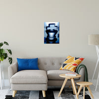 "Heads of Kings Blue Abstract Photo Fine Art Canvas & Unframed Wall Art Prints 16"" x 20"" / Fine Art Canvas - PIPAFINEART"