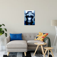 "Heads of Kings Blue Abstract Photo Fine Art Canvas & Unframed Wall Art Prints 20"" x 24"" / Fine Art Canvas - PIPAFINEART"
