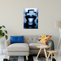 "Heads of Kings Blue Abstract Photo Fine Art Canvas & Unframed Wall Art Prints 24"" x 36"" / Fine Art Canvas - PIPAFINEART"