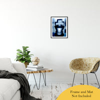 "Heads of Kings Blue Abstract Photo Fine Art Canvas & Unframed Wall Art Prints 16"" x 20"" / Classic Paper - Unframed - PIPAFINEART"