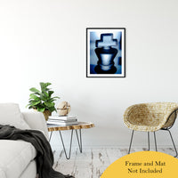 "Heads of Kings Blue Abstract Photo Fine Art Canvas & Unframed Wall Art Prints 20"" x 30"" / Classic Paper - Unframed - PIPAFINEART"