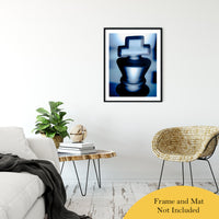 "Heads of Kings Blue Abstract Photo Fine Art Canvas & Unframed Wall Art Prints 24"" x 36"" / Classic Paper - Unframed - PIPAFINEART"