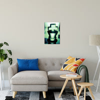Heads of Kings in Green Abstract Photo Fine Art Canvas & Unframed Wall Art Prints - PIPAFINEART