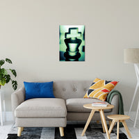 "Heads of Kings in Green Abstract Photo Fine Art Canvas & Unframed Wall Art Prints 20"" x 24"" / Fine Art Canvas - PIPAFINEART"