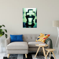 "Heads of Kings in Green Abstract Photo Fine Art Canvas & Unframed Wall Art Prints 24"" x 36"" / Fine Art Canvas - PIPAFINEART"