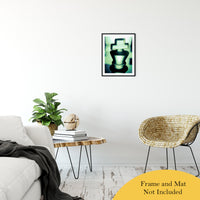 "Heads of Kings in Green Abstract Photo Fine Art Canvas & Unframed Wall Art Prints 16"" x 20"" / Classic Paper - Unframed - PIPAFINEART"