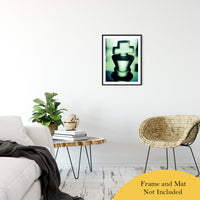 "Heads of Kings in Green Abstract Photo Fine Art Canvas & Unframed Wall Art Prints 20"" x 24"" / Classic Paper - Unframed - PIPAFINEART"