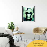 "Heads of Kings in Green Abstract Photo Fine Art Canvas & Unframed Wall Art Prints 24"" x 36"" / Classic Paper - Unframed - PIPAFINEART"