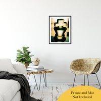 "Heads of Kings (Yellow) Abstract Photo Fine Art Canvas & Unframed Wall Art Prints 20"" x 30"" / Classic Paper - Unframed - PIPAFINEART"