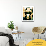 "Heads of Kings (Yellow) Abstract Photo Fine Art Canvas & Unframed Wall Art Prints 24"" x 36"" / Classic Paper - Unframed - PIPAFINEART"