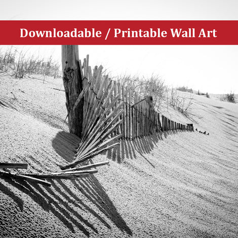High Key Dunes Landscape Photo DIY Wall Decor Instant Download Print - Printable