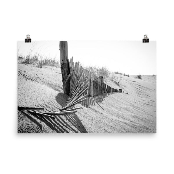 High Key Dunes Black and White Landscape Photo Loose Wall Art Prints  - PIPAFINEART