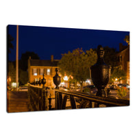 Historic New Castle 4 Night Photo Fine Art Canvas Urban Landscape Scene - Living Room Wall Art Print