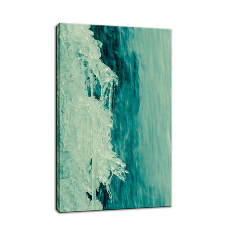 Ice and Falls Nature Photo Fine Art Canvas Wall Art Prints