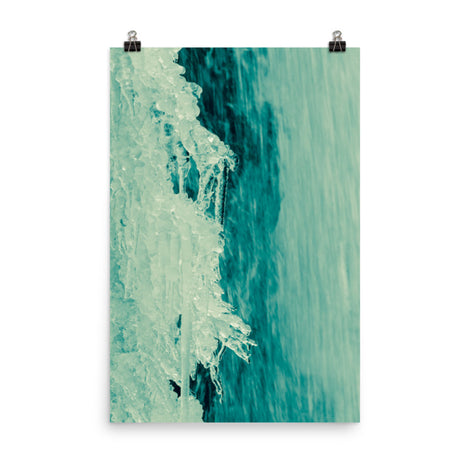 Ice and Falls Abstract Nature Photo Loose Unframed Wall Art Prints